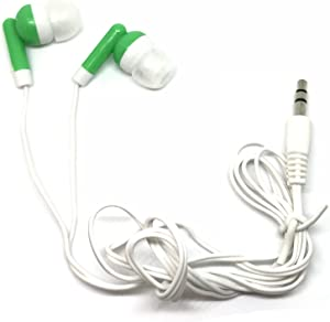 TFD Supplies Wholesale Bulk Hard Shell Plastic Carrying Storage Case Earbuds Headphones 50 Pack for iPhone, Android, MP3 Player - Green