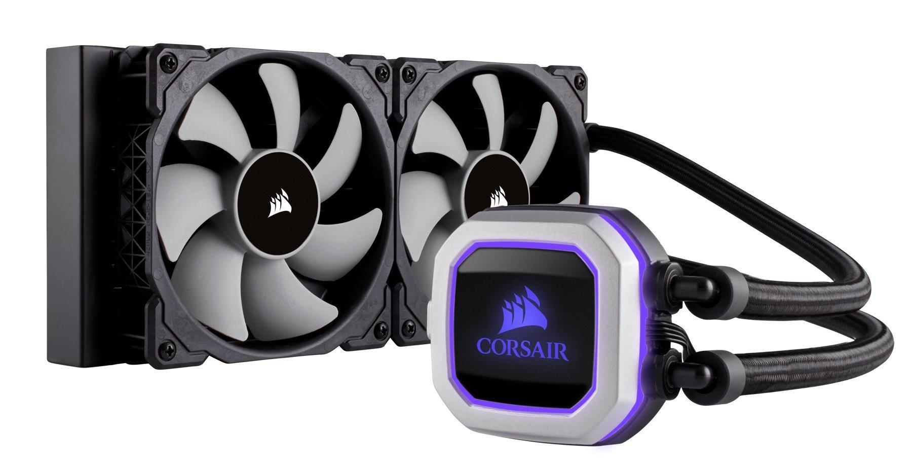 CORSAIR HYDRO Series H100i PRO RGB AIO Liquid CPU Cooler, 240mm, Dual ML120 PWM Fans, Intel 115x/2066, AMD AM4 by Corsair (Image #7)