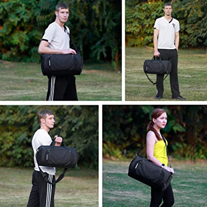 a9f3b496a83 ... Gym Sports Small Duffel Bag for Men and Women with Shoes Compartment -  Mouteenoo (X ...