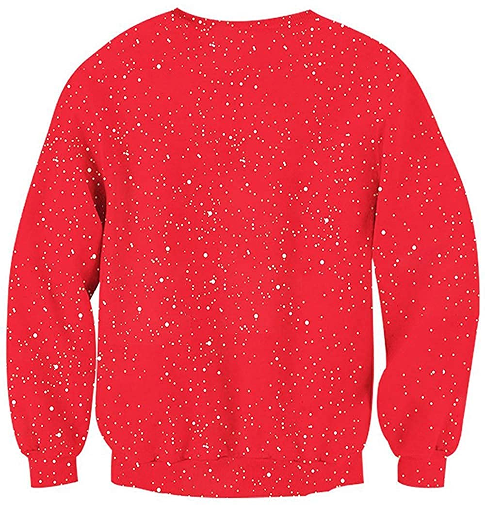 NewCime Ugly Christmas Perspective Muscle Print Long Sleeve Crew Neck Pullover Men Women Sweatshirt Tops Sweater Hoody Shirt