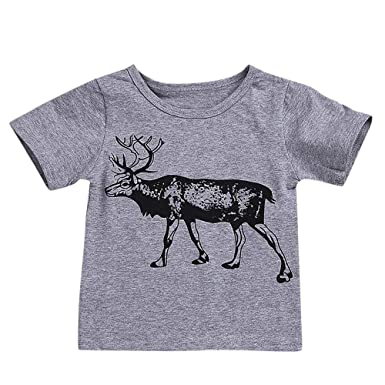 cd9116662514 Amazon.com  Infant Baby Toddler Girls Boys Summer Fall Clothes Tees ...