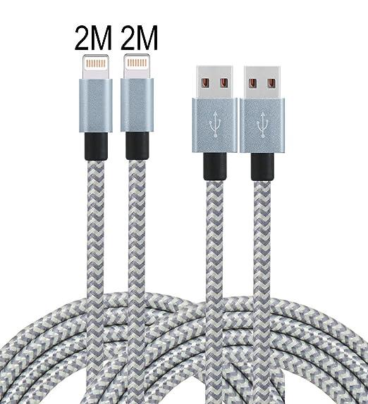 15 opinioni per Leginda Cavo Lightning su USB 2 confezione Cavo iPhone con Cavo Ricarica USB per