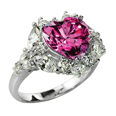 9cba3ce09 Beautifully crafted 4 cttw (10mm) heart ring. Made with Swarovski Zirconia.  Radiant