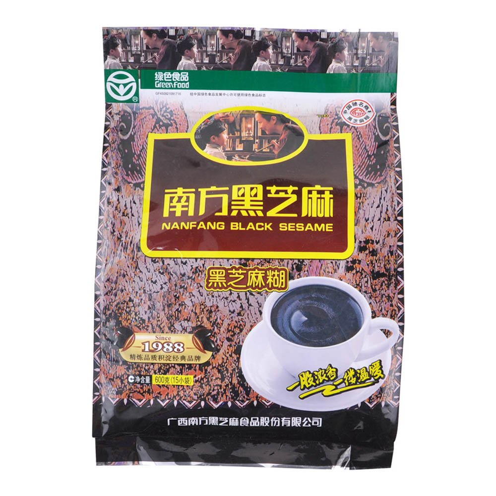 Nanfang Black Sesame 600g (Pack of 2) - Picture May Vary + One NineChef Spoon