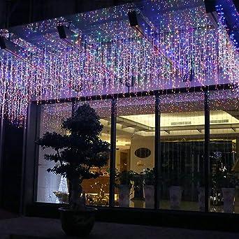 Weihnachtsbeleuchtung Außenbereich.Fftong Led Lichterketten Eiszapfen Lichterkette Wasserdicht Eisregen