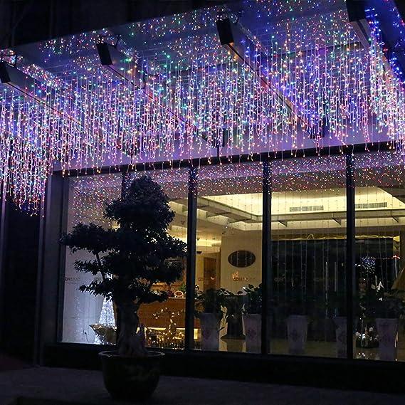 Weihnachtsdeko Straßenbeleuchtung.Fftong Led Lichterketten Eiszapfen Lichterkette Wasserdicht Eisregen