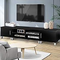 Artiss TV Unit 190cm Length Entertainment Unit Wooden TV Cabinet Detachable Console Table, Black