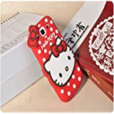 Cute Hello Kitty Silicone With Pendant Back Case Cover For Samsung Galaxy Star Advance G350