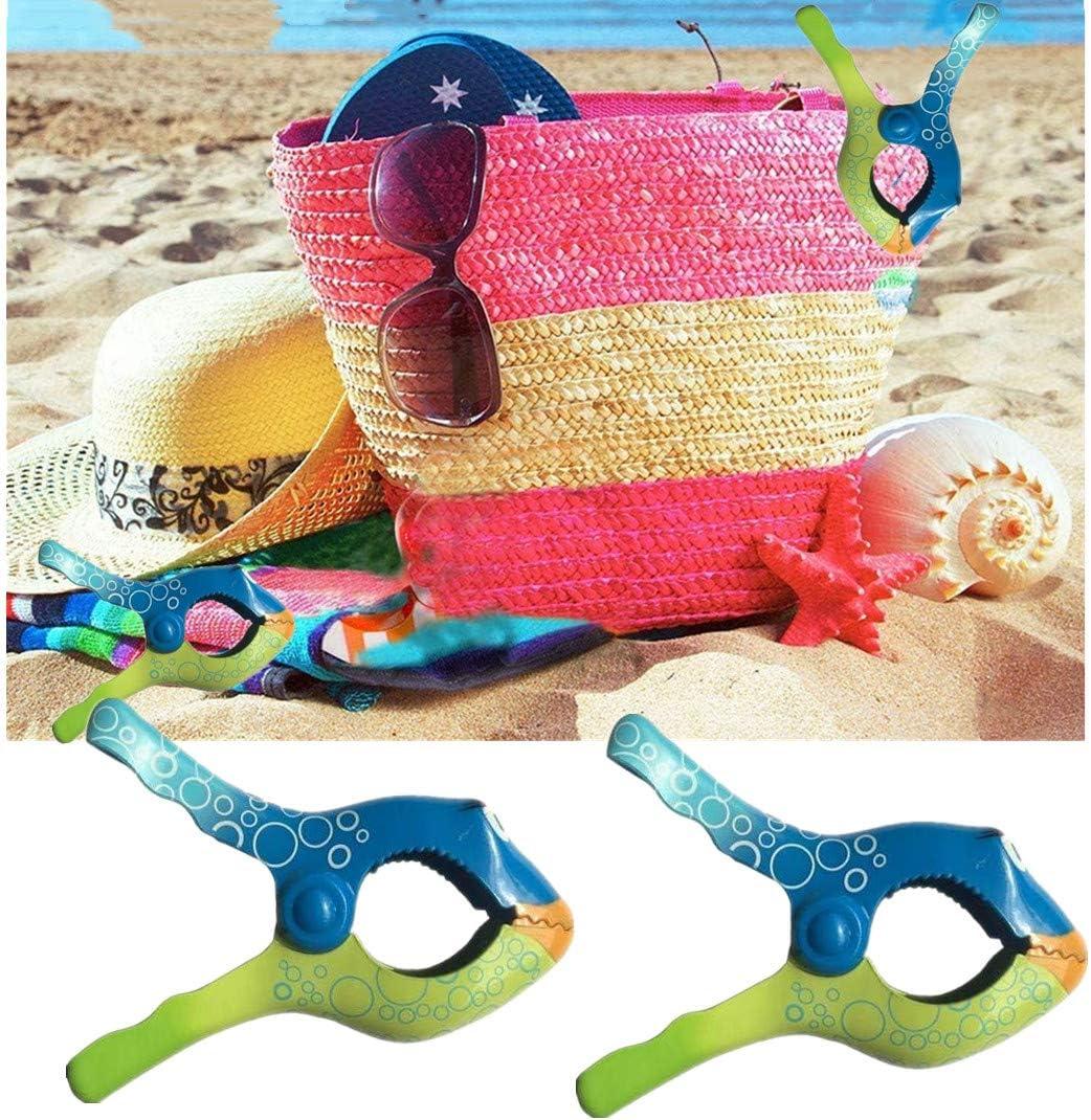 N\A 2 pezzi in plastica Clip multiuso per asciugamano da spiaggia