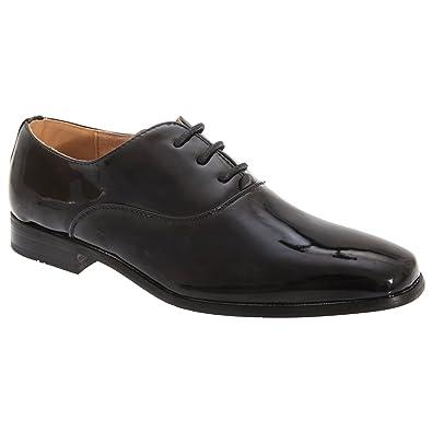 317e7390784 Goor Boys Patent Leather Lace-Up Oxford Tie Dress Shoes  Amazon.co ...