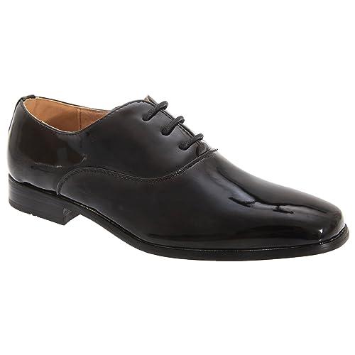 Goor Zapatos de charol Modelo Oxford niños- Boda/Fiesta/Comunión (25 EU