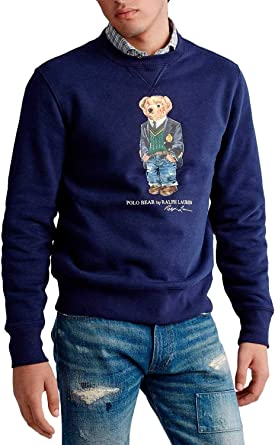 Polo Ralph Lauren Sudadera Teddy Azul Hombre XXL Azul: Amazon.es ...