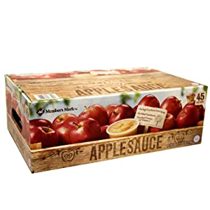 Members Mark Applesauce (4 oz. ea., 45 ct.) (pack of 2)