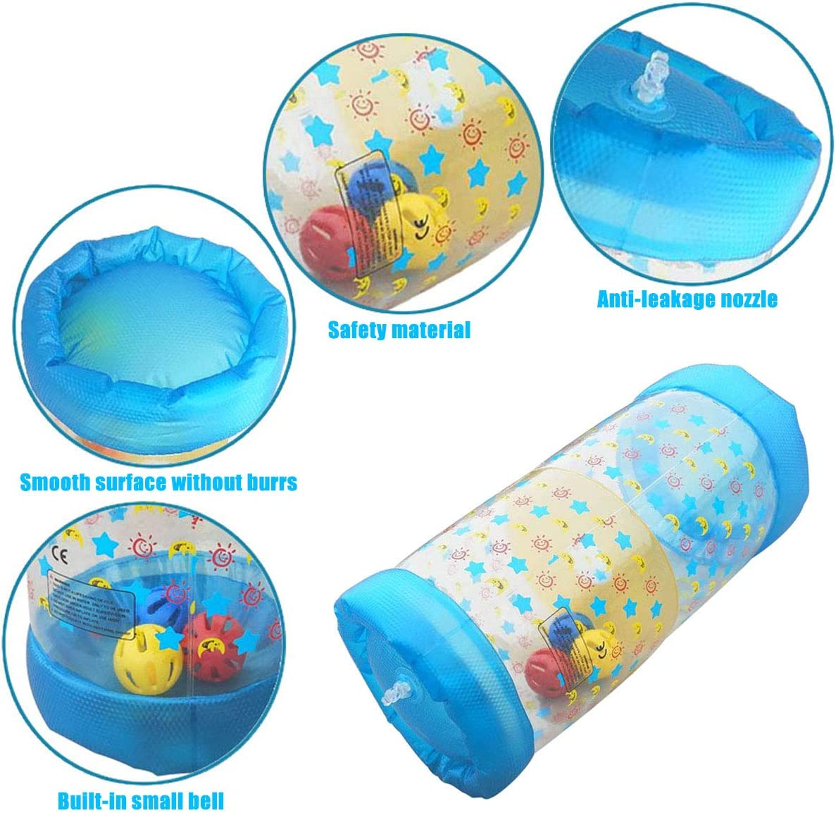 Blue QINGBAO Baby Crawling Fitness Toys Exercise Your Babys Hearing and Touch Exercise Your Babys Muscles and Coordination