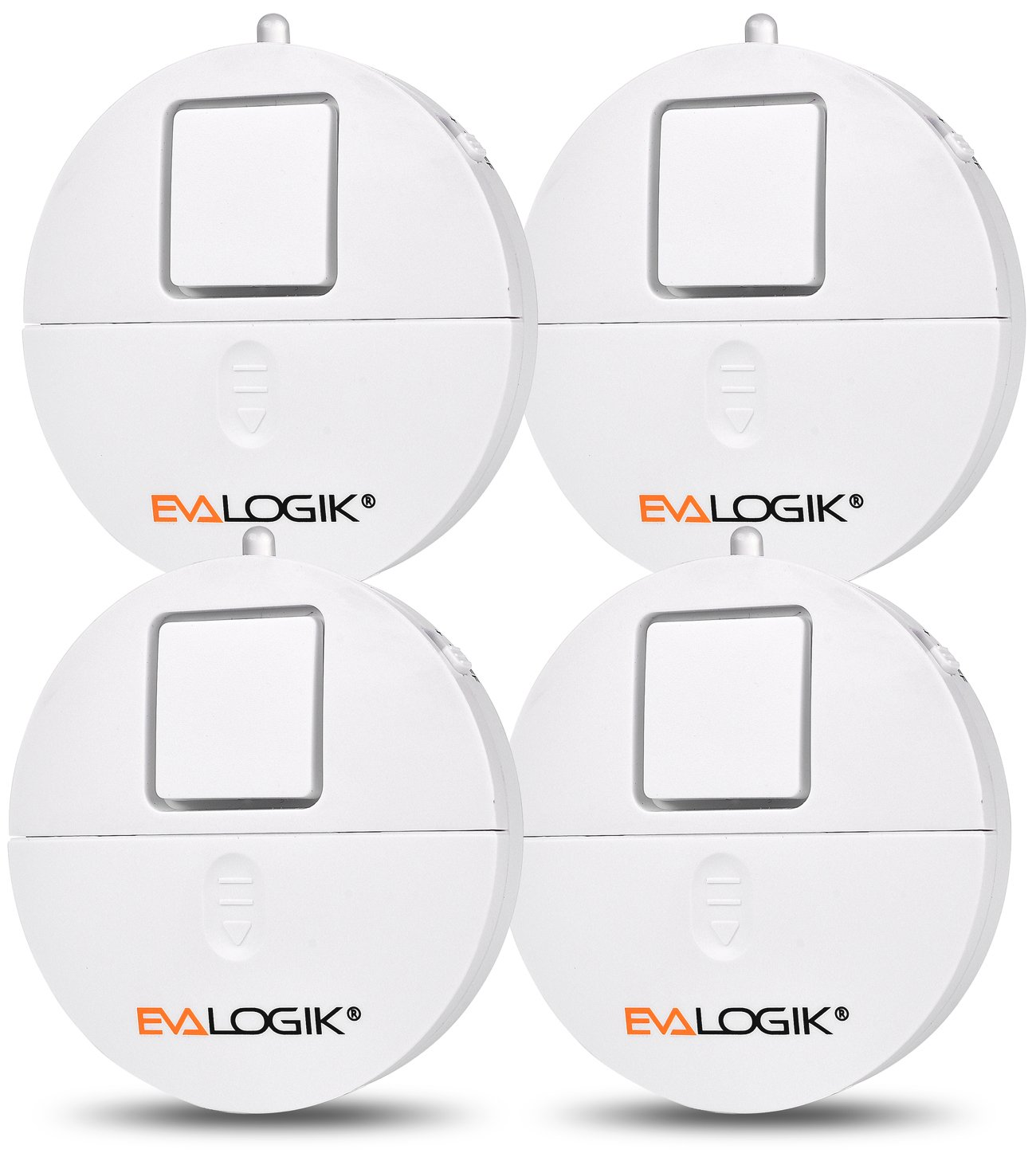 Window Alarm 4 Packs - Loud 120dB Alarm and Vibration Sensors Compatible with Virtually Any Window - Glass Break Security Alarm Sensor- Low Battery LED Indicator