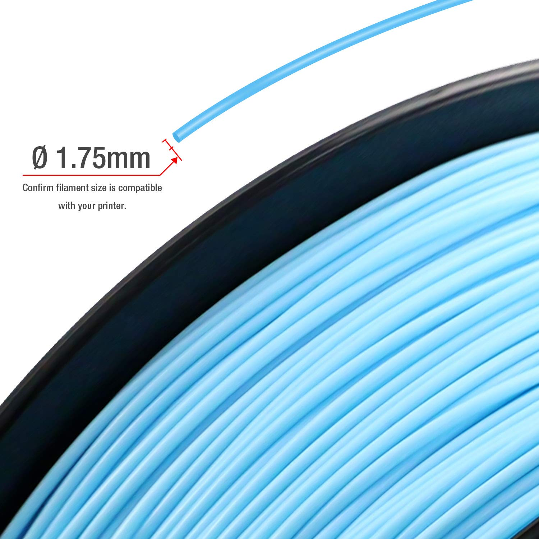 300g//Spool Nero//bianco//argento//blu//rosso//verde precisione dimensionale +//- 0,03 mm TIANSE 6 colori Filamento PLA per stampanti 3D //penne 3D 1.75mm PLA Filament 1.8kg 3D Printer Filament PLA