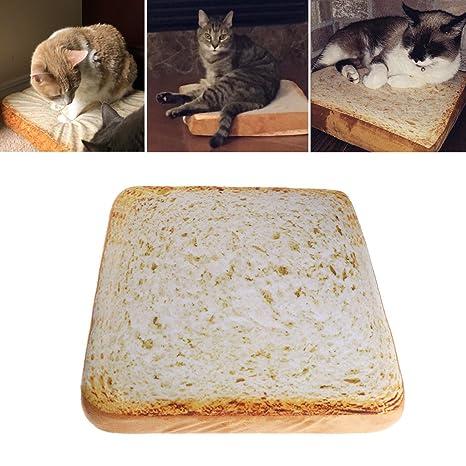 EcLife - Felpudo para Mascotas, Perros, Gatos, Tostadas, Pan, caseta de