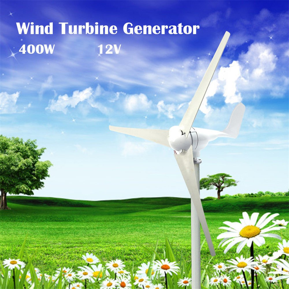 XIDAJIE 400W 3 Blade DC 12V Wind Turbine Generator With Waterproof Charge Controller by XIDAJIE