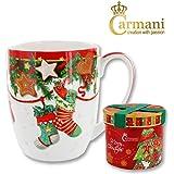 CARMANI - Tasse en porcelaine décorée avec un theme de Noël