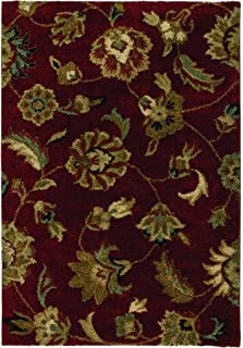"product image for Orian Rugs Plush Floral London Red Runner (2'3"" x 8')"