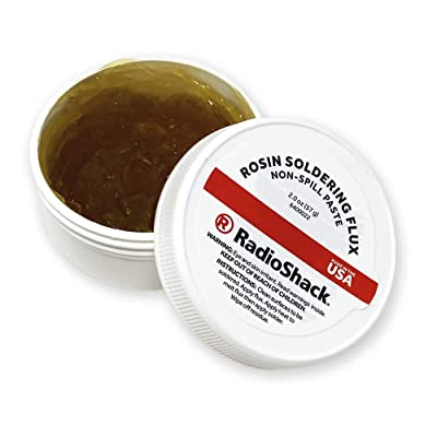 RadioShack Rosin Soldering Flux Paste, Non-Spill - 2 oz. Jar - Power Soldering Accessories - .com