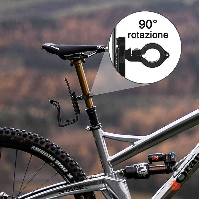 Portabidón para bicicleta, [Nueva versión] Diyife Portabotellas de ...