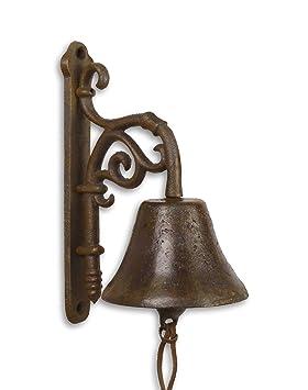Campana para puerta campana pared Campana campana Hierro Fundido Juego de 2 País Diseño de Casa de montaña: Ornament H: 23 cm: Amazon.es: Jardín