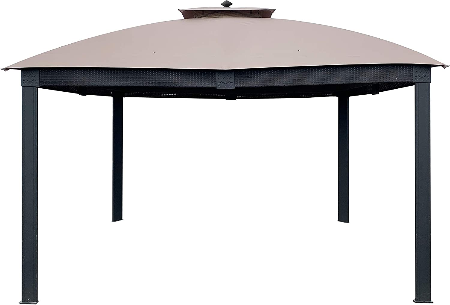 APEX GARDEN Replacement Canopy Top for Lowe's Allen roth Brown Metal Rectangle Semi- Gazebo Model #L-GZ815PCO-T