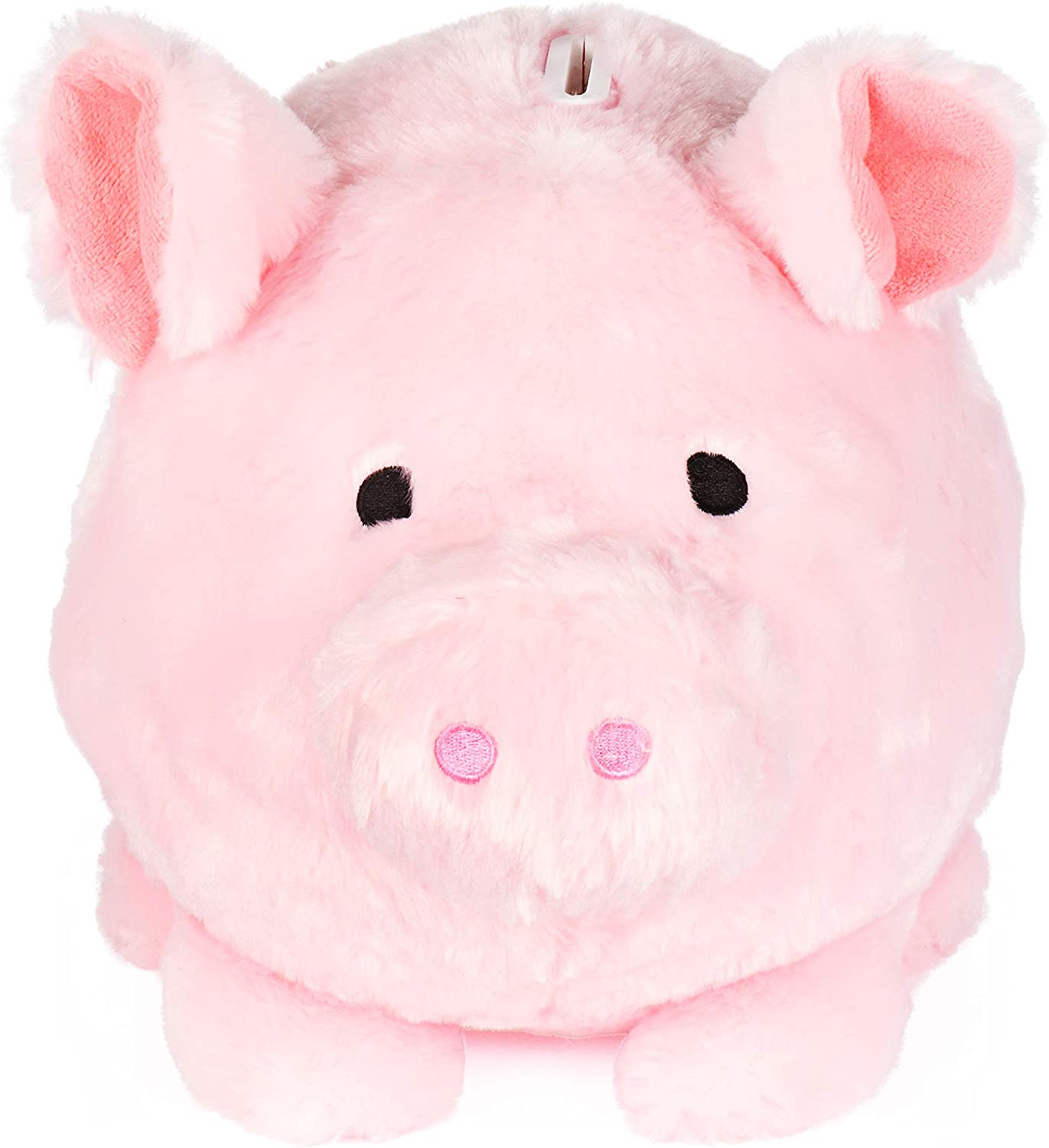 FAB Starpoint Jumbo Plush Piggy Bank, Hug Me and Fill Me! (Light Pink)