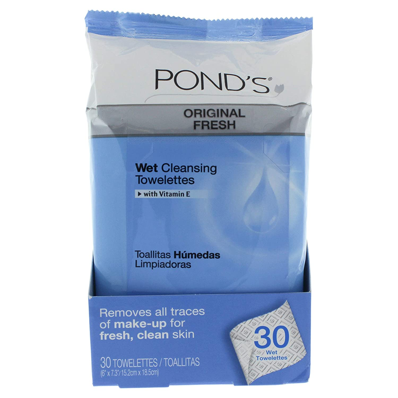 Pond's MoistureClean Original Fresh Towelette 28 count,pack of 4