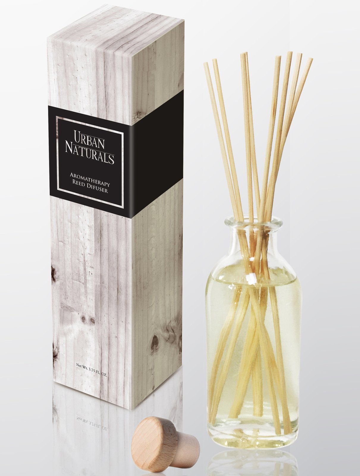 Urban Naturals Coconut Lemongrass Home Fragrance Reed Diffuser Oil Set | Tropical Blend of Lemongrass, Fresh Limes & Sweet Coconut Milk | Great Home Gift Idea! Vegan. Made in The USA by Urban Naturals (Image #2)