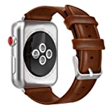 yearscase 42MM Retro Vintage Genuine Leather iWatch