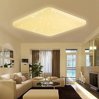 VINGO® 60W LED Deckenleuchte Eckig Sternenhimmel Effekt ...