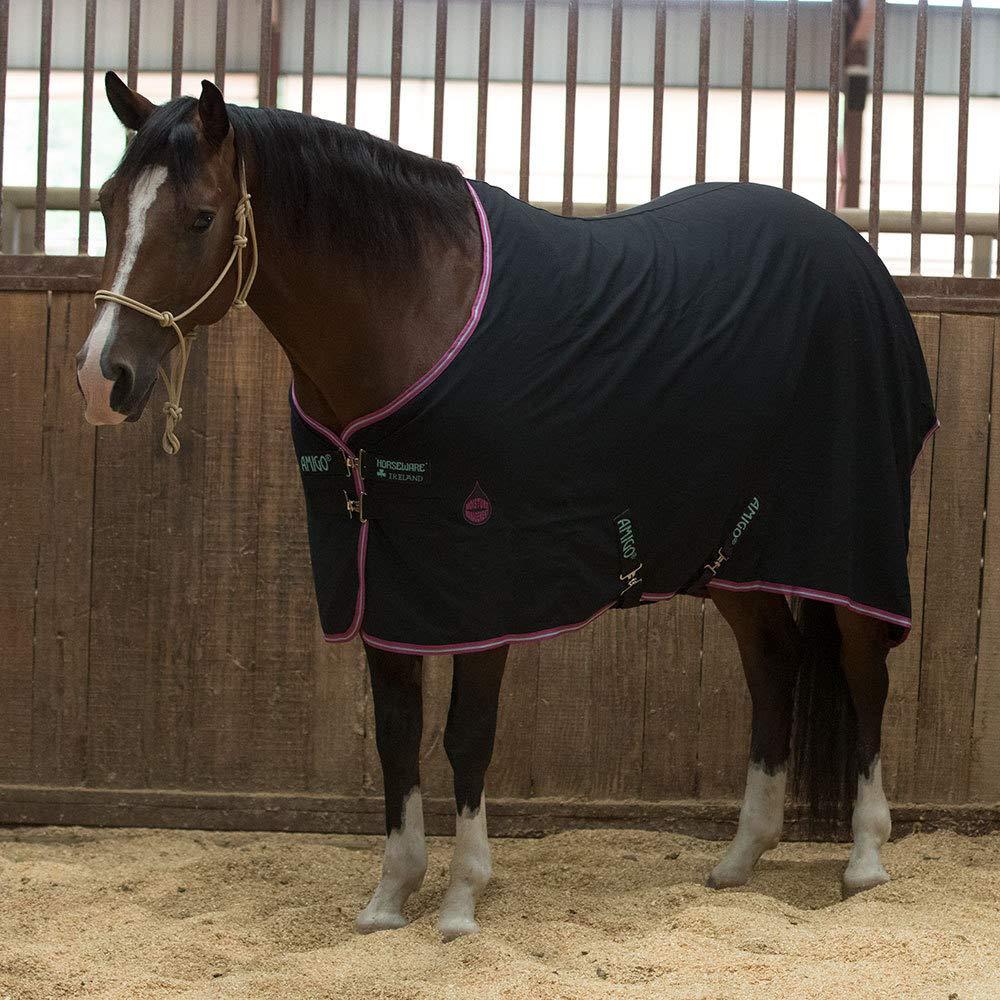 Horseware Amigo Stable Sheet 0g–Black/Purple & Mint