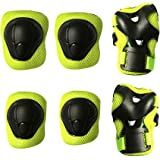 MAXZOLA Kids Protective Pads Knee Pads Elbow Pads Wrist Guards 3 In 1 Protective Gear Set