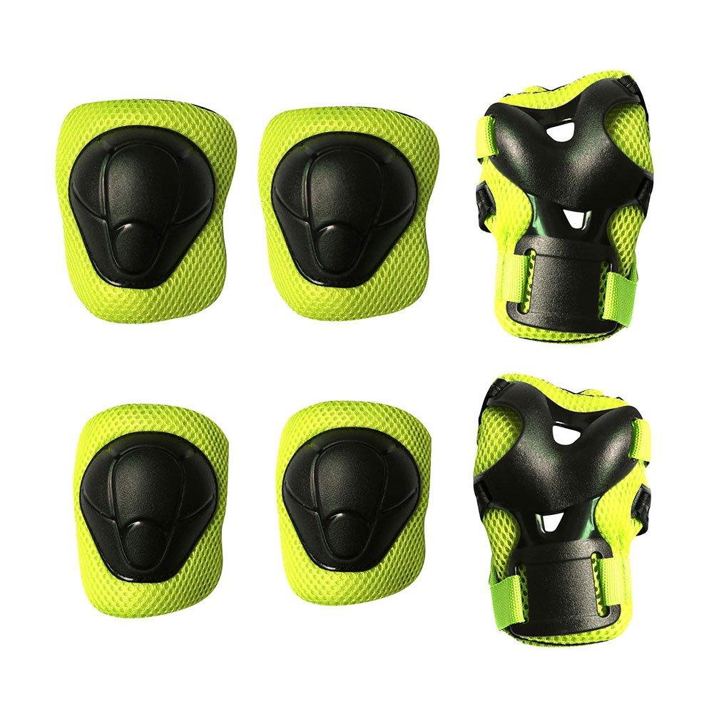 maxzola Kids Protective Pads膝パッド肘パッド手首ガード3 in 1保護ギアセット  グリーン B06XGBSR8V