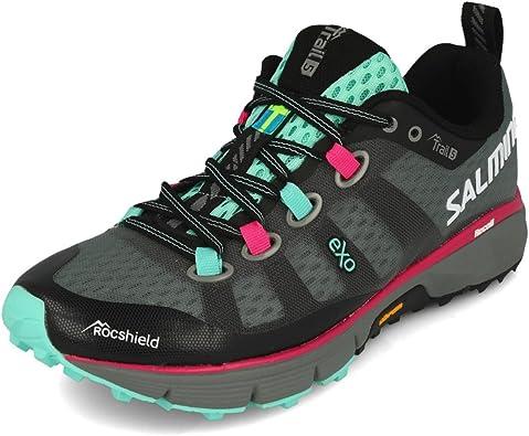 Salming Trail 5 Trailschuh Damen-Grau, Pink, Zapatillas Running para Mujer: Amazon.es: Zapatos y complementos