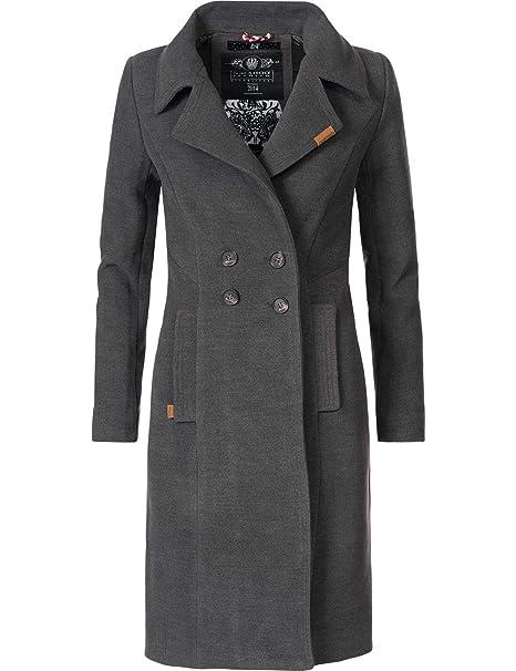 check out b68bd 7349e Navahoo Damen Wintermantel Winterparka Wooly 5 Farben XS-XXL