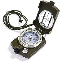 iitrust Boussole Professionnelle Waterproof IP65 en Métal Compas de Fluorescent Equipé de Clinomètre avec Sac depour Aventure/Camping/Course d'Orientation Chasse et d'autres Activités en Plein Air