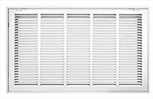Accord ABRFWH2514 Return Filter Grille with 1/2-Inch Fin Louvered, 25-Inch x 14-Inch(Duct Opening Measurements), White