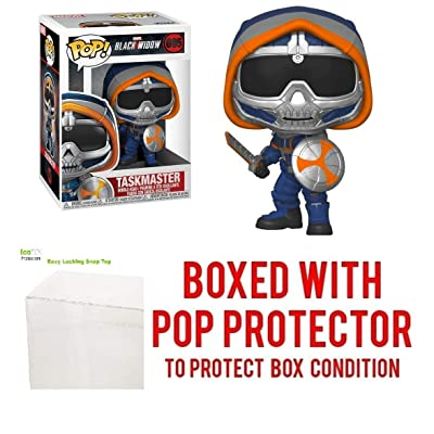 Taskmaster with Shield #605 Pop Marvel: Black Widow Vinyl Figure (Bundled with EcoTEK Plastic Protector to Protect Display Box): Toys & Games