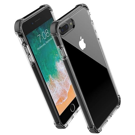 pick up 5af5d d17ed Noii for iPhone 8 Plus case iPhone 7 Plus case, Clear Hybrid Drop  Protection case,[TPE Super Rubber Bumper] Shockproof case,Upgraded  Reinforced Edges ...
