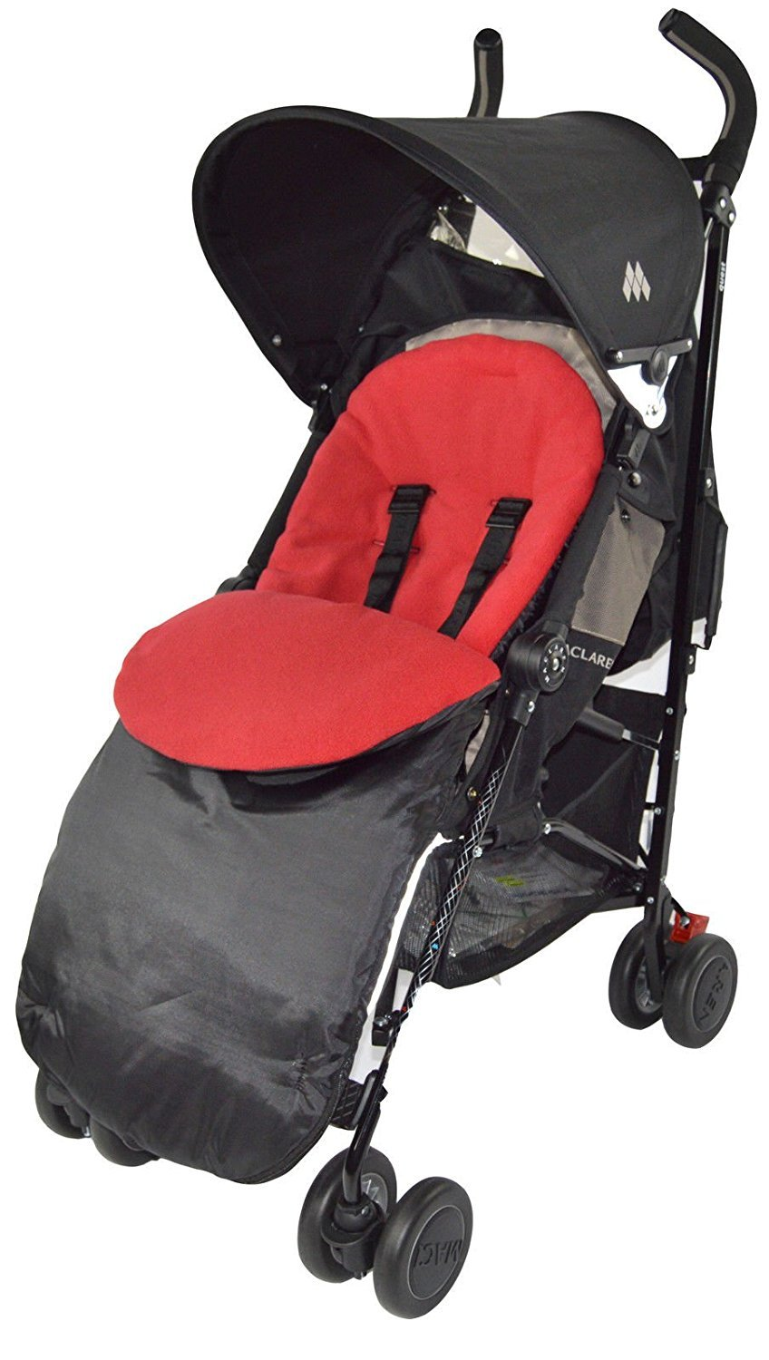 Chancelière/Cosy orteils Compatible avec Maclaren Techno XT/Quest/XLR/Volo Rouge For-Your-Little-One