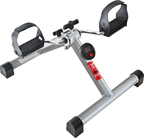 Folding Cycle Instride Electronic Monitor Cardio Exercise Bike Workout Gym Home