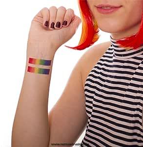 Arco Iris Tattoo Tiras – para CSD, LGBT, gay, 10 x Regenbogen ...