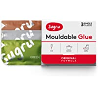Sugru I000432 Original Formula-Brown, Green & Grey 3-Pack Mouldable Glue, 3 Piece
