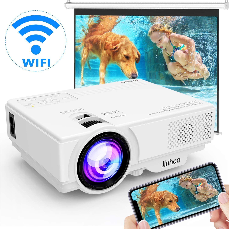 [Proyector WIFI] Proyector 4500 Lúmenes Soporta 1080P Full HD, Proyector de Video Compatible con Teléfonos Inteligentes, Tabletas, TV Stick, Reproductor de Juegos, USB, TF para Cine en Casa.