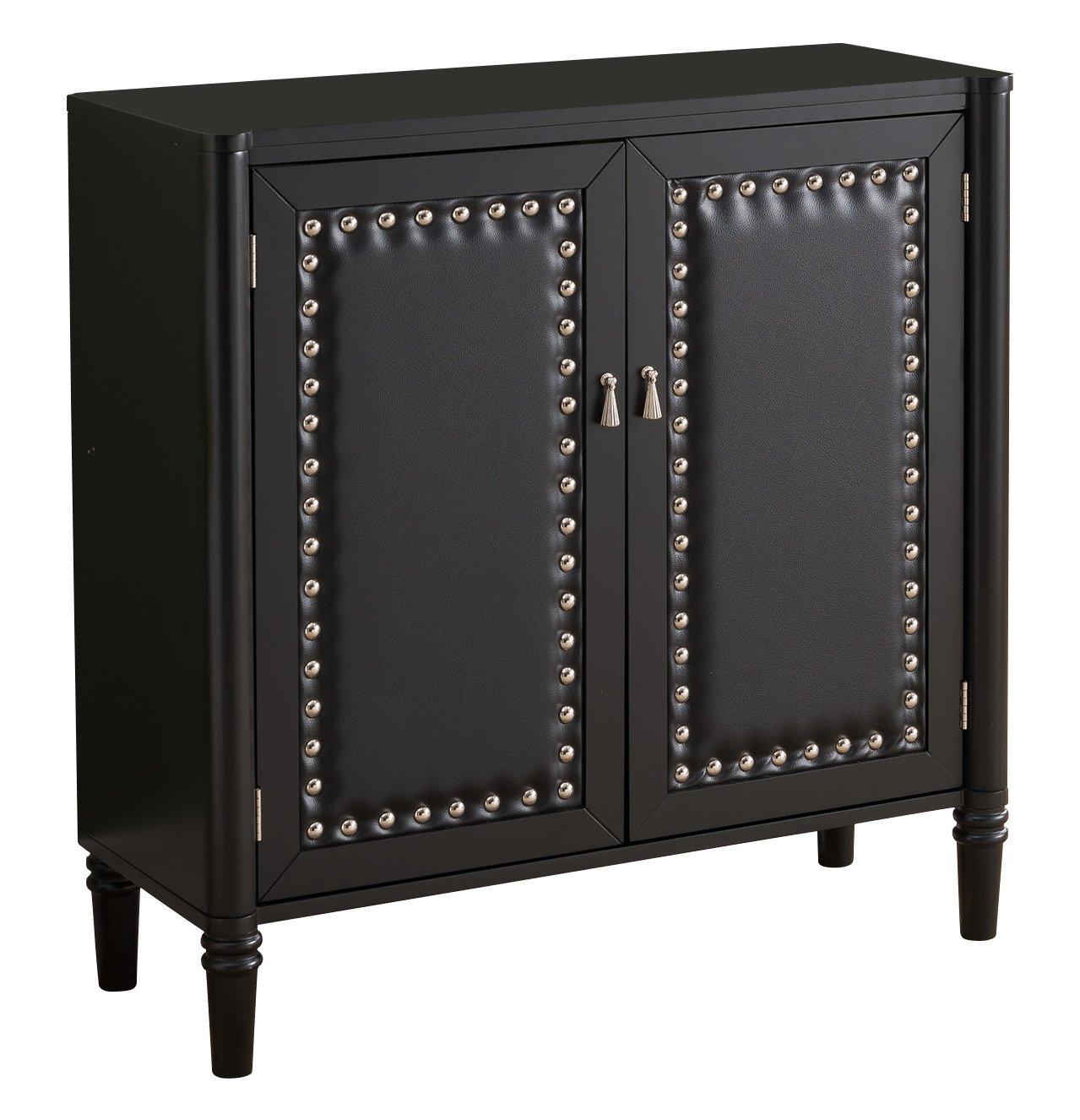 Kings Brand Furniture 2 Door Entryway Console Table Accent Cabinet, Black by Kings Brand Furniture (Image #5)