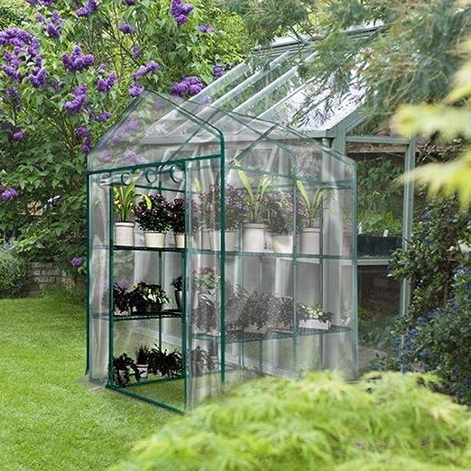 Hearthrousy Invernadero Arqueado Cubierta Transparente Impermeable Invernadero Portatil Ideal para Jardines, Balcones, Patios, Etc.: Amazon.es: Hogar