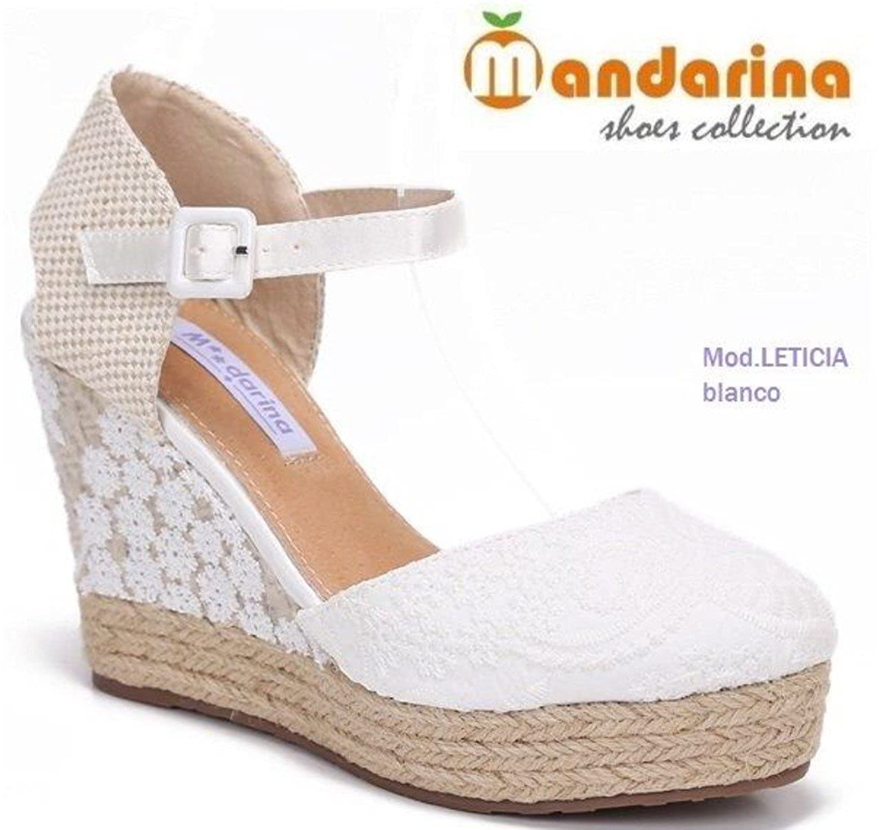 BUONAROTTI ESPARDEÑA Color Blanco Talla 41: Amazon.es: Zapatos y complementos